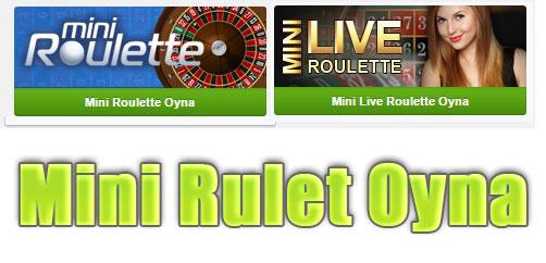 Mini Rulet, Mini Canlı Rulet, Mini Rulet Oyna, Mini Rulet Oyunu, Mini Roulette