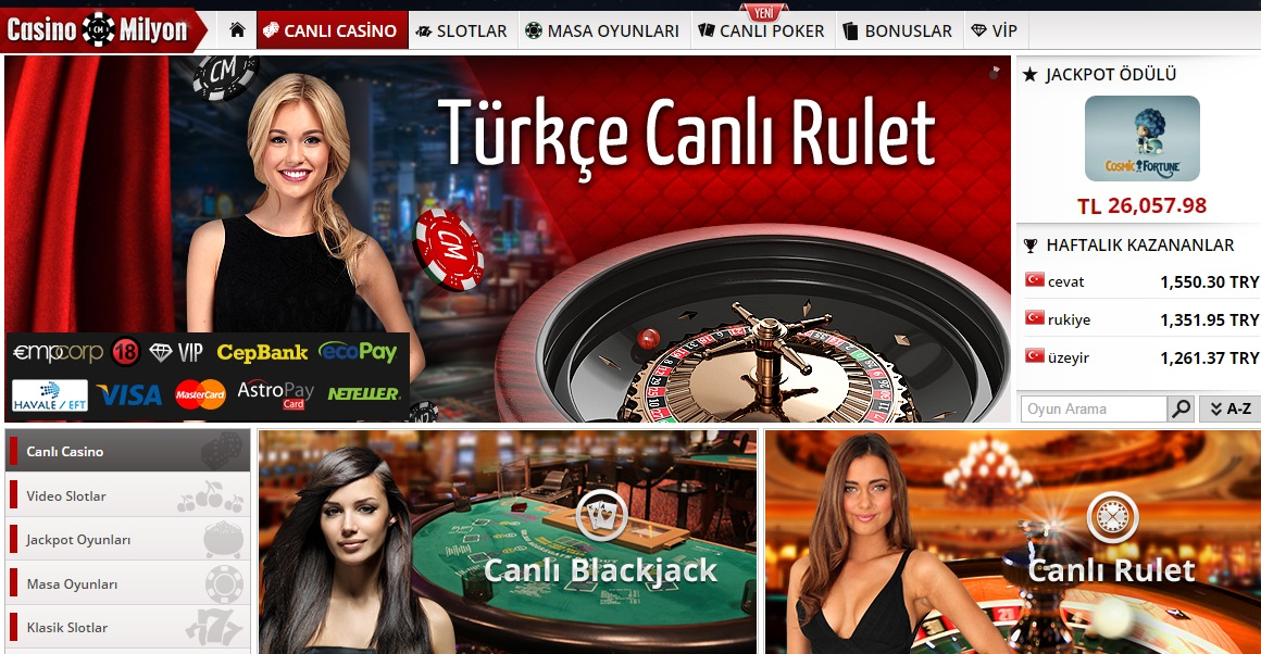 CasinoMilyon Rulet, CasinoMilyon Canlı Rulet, CasinoMilyon Rulet Oyna, CasinoMilyon Rulet Oyunu